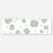 Cute Pink+Mint LUCKY IN LOVE Bumper Bumper Bumper Sticker
