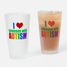 Autism Love Drinking Glass