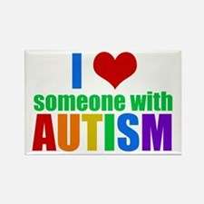 Autism Love Rectangle Magnet