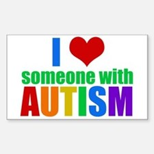 Autism Love Sticker (Rectangle)
