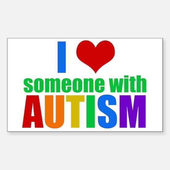 Autism Love Sticker (Rectangle)