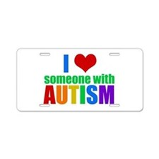 Autism Love Aluminum License Plate