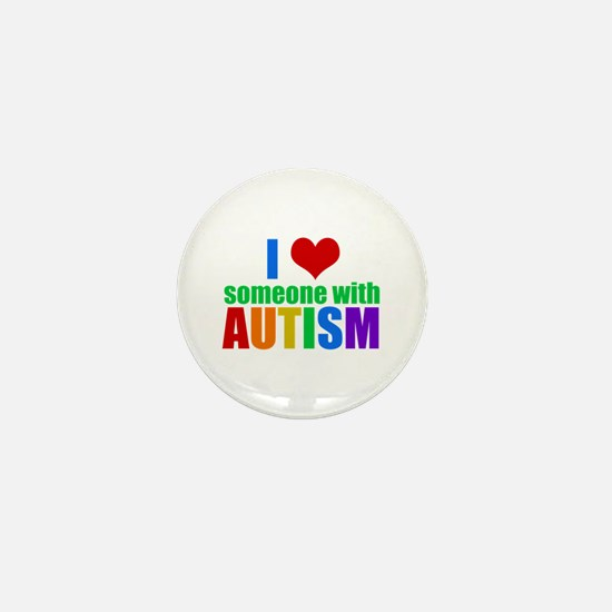 Autism Love Mini Button