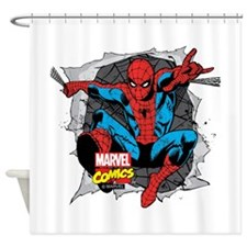 Spiderman Ripped Shower Curtain