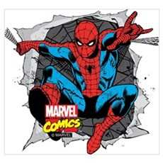Spiderman Ripped Wall Art Framed Print