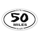 50 miles Bumper Stickers