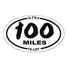 100 Miles - Ultra Crazy Sticker (oval)