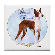 Ibizan Portrait Tile Coaster