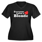 Everyone Loves a Blonde Women's Plus Size V-Neck D