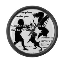 Jeremiah 29:11 Large Wall Clock