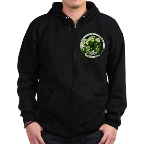 Hulk Icon Zip Hoodie (dark)