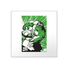 "Hulk Lino Square Sticker 3"" x 3"""