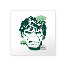 "Hulk Puny Human Square Sticker 3"" x 3"""