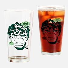 Hulk Puny Human Drinking Glass