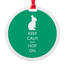 Keep Calm And Hop On - Green Ornament