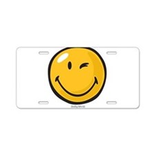friendly wink Aluminum License Plate