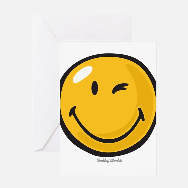 friendly wink Greeting Cards