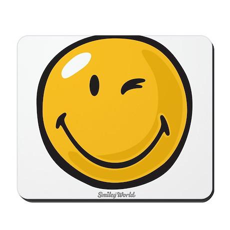 friendly wink Mousepad