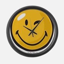 friendly wink Large Wall Clock