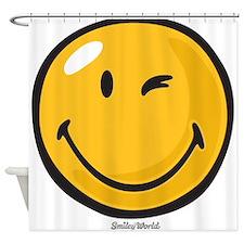friendly wink Shower Curtain
