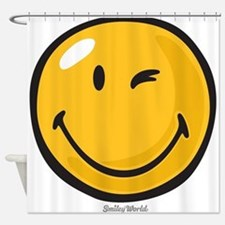 friendly wink Shower Curtain