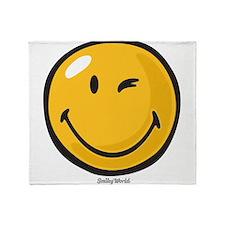 friendly wink Throw Blanket