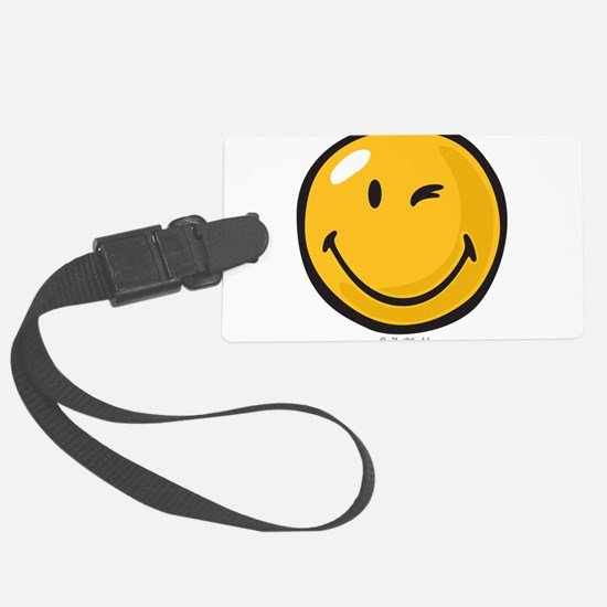 friendly wink Large Luggage Tag
