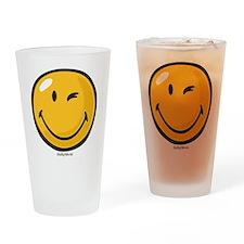 friendly wink Drinking Glass