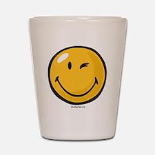 friendly wink Shot Glass