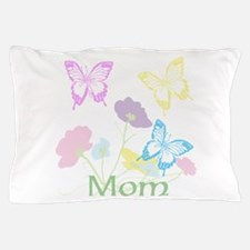 Personalize mom Flowers & Butterflies Pillow Case