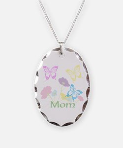 Personalize mom Flowers & Butt Necklace