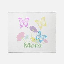 Personalize mom Flowers & Butterflie Throw Blanket