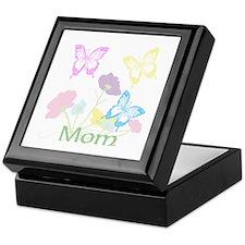 Personalize mom Flowers & Butterflies Keepsake Box