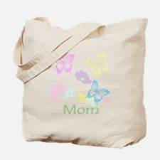 Personalize mom Flowers & Butterflies Tote Bag