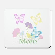 Personalize mom Flowers & Butterflies Mousepad