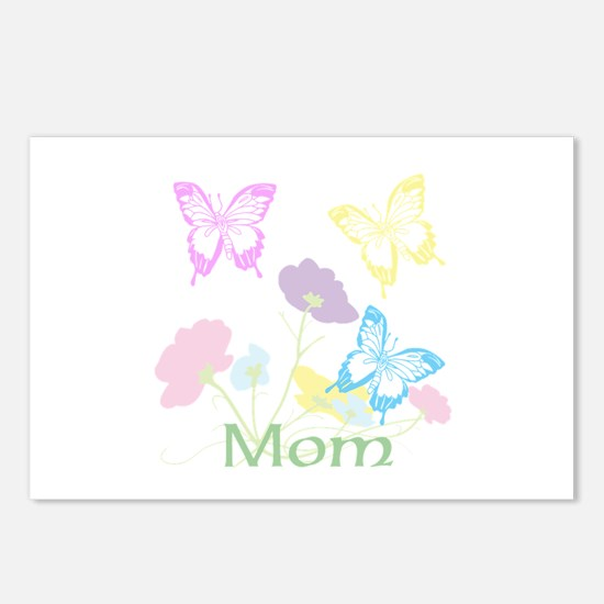 Personalize mom Flowers & Postcards (Package of 8)