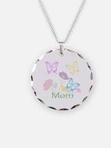 Personalize mom Flowers & Bu Necklace