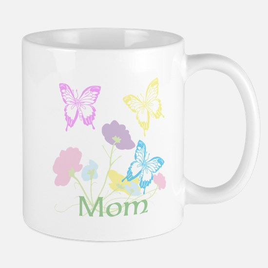 Personalize mom Flowers & Butterflies Mug
