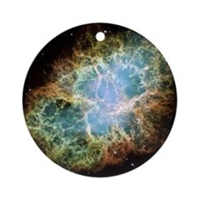 Crab Nebula Round Ornament