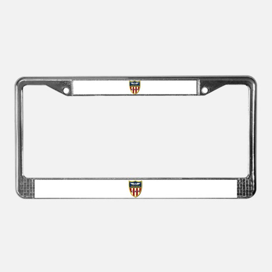 Indiana Wing Patch License Plate Frame