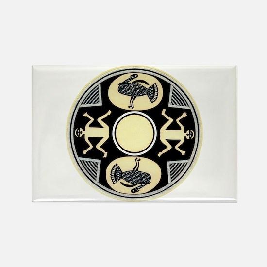 MIMBRES MEN'S TURKEY BOWL DESIGN Rectangle Magnet