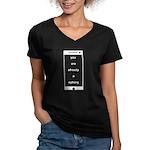Already a Cyborg Women's V-Neck T-Shirt (dark)