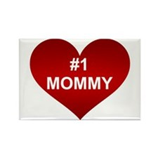 #1 MOMMY Rectangle Magnet