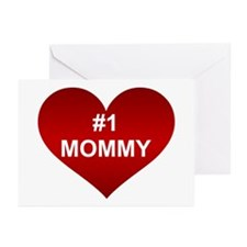#1 MOMMY Greeting Cards (Pk of 10)