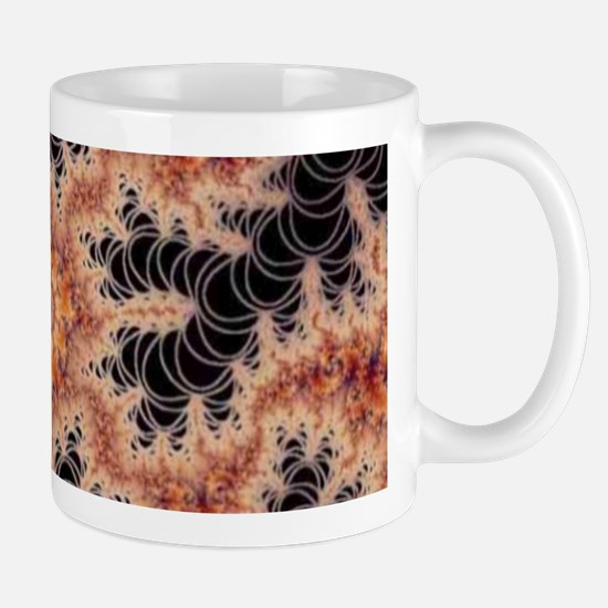 kaleido fractal dark Mugs