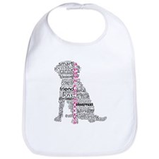 4 Paws Black Pink Bib