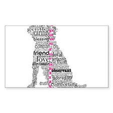 4 Paws Black Pink Decal