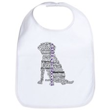 4 Paws Black Purple Bib