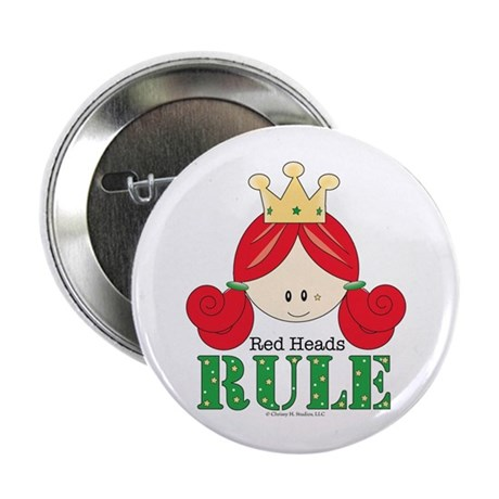 Red Heads Rule Button
