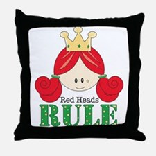 Red Heads Rule Throw Pillow